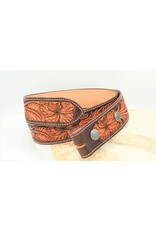 Boedeker Leather Full Floral Belt Dark