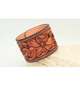 Boedeker Leather Cuff Filigree Red sz. 8