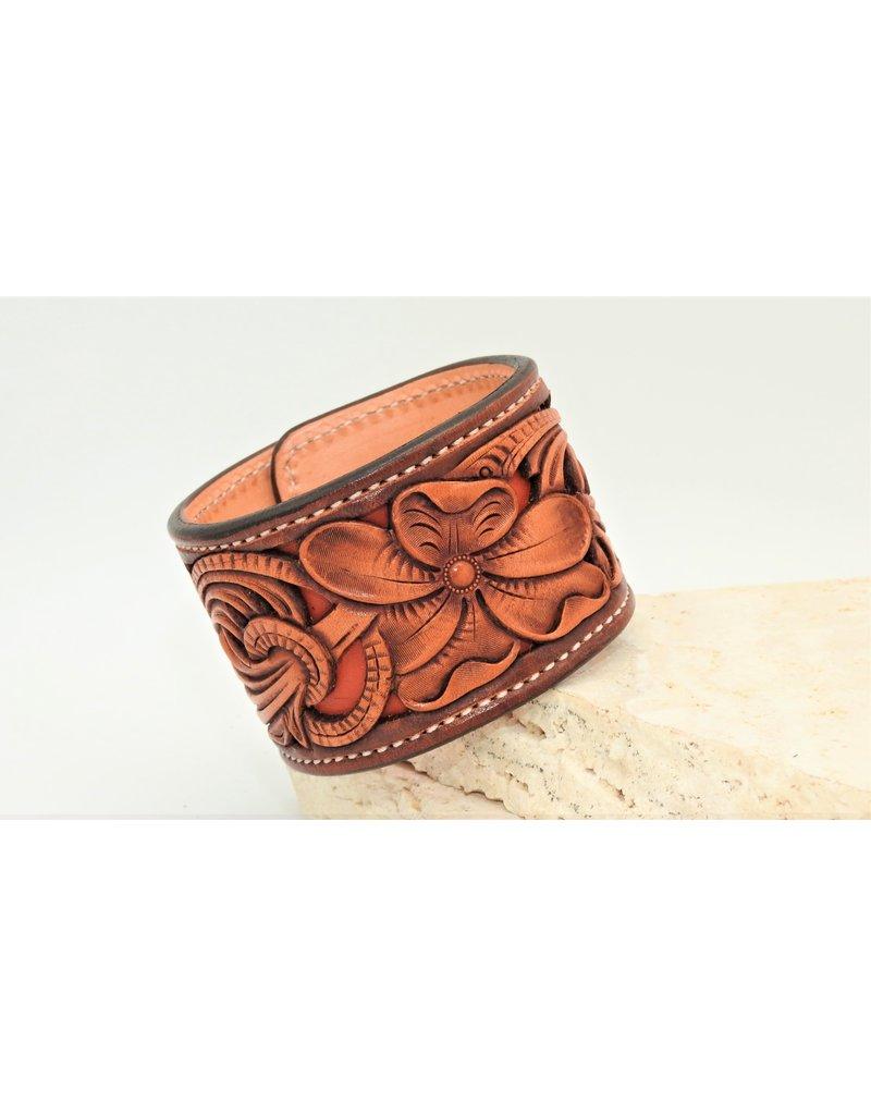 Boedeker Leather Cuff Filigree Red sz. 8