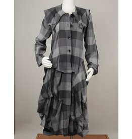 Bodil BE2064 Cotton Plaid Coat/Duster by Bodil