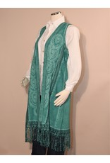 Peruvian Perfection Cotton Embroidered Long Fringe Vest