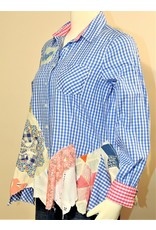 Char Designs, Inc. EJ One of a Kind Blue Check with Patchwork