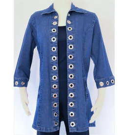 Tia Designs Lace Up Back Swing Jacket