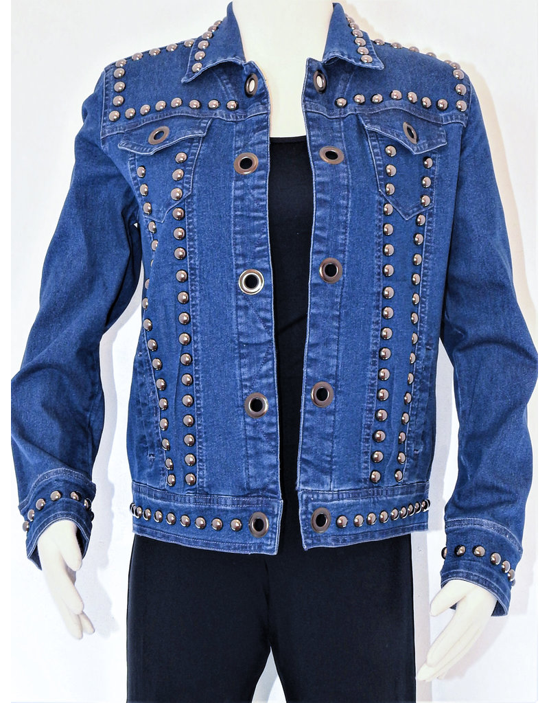 Tia Designs Bold Stud Straight Cut Jacket