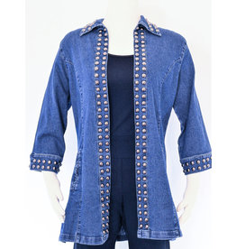 Tia Designs Bold Stud Swing Jacket
