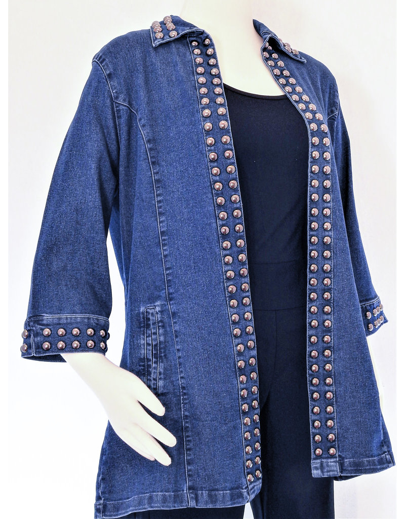 Tia Designs Bold Stud Swing Jacket