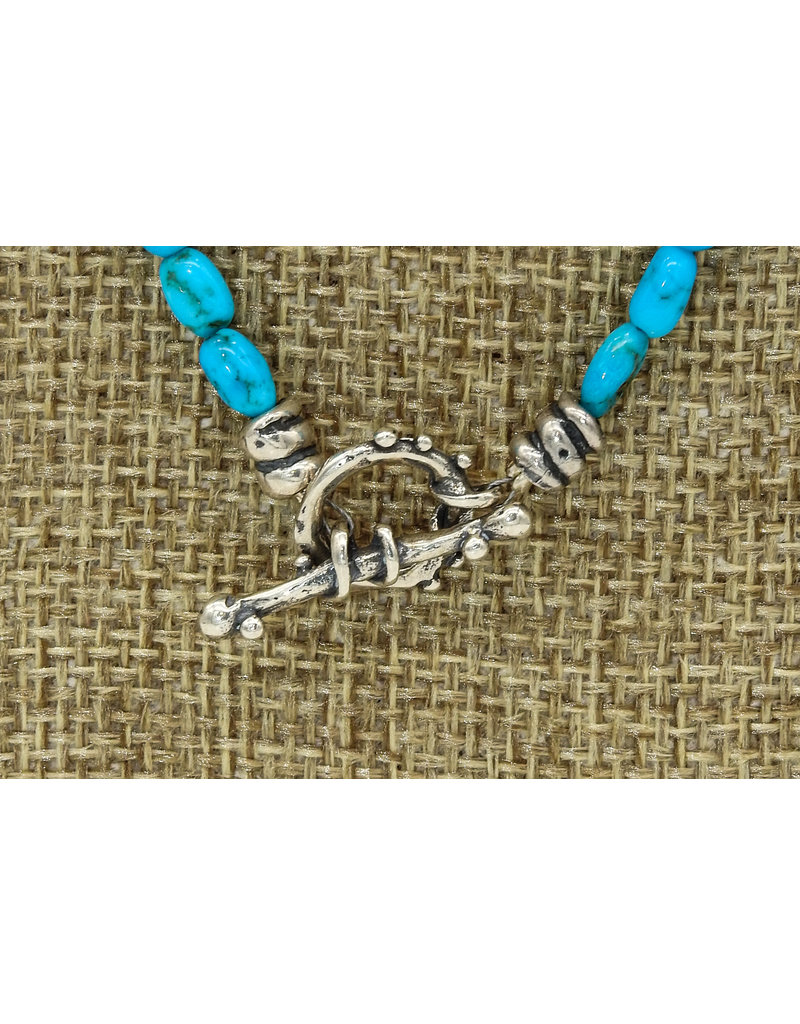 Pam Springall Turquoise & Coral Necklace