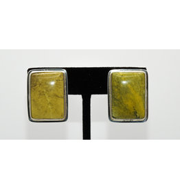 Pam Springall Yellow Turquoise Clip earrings