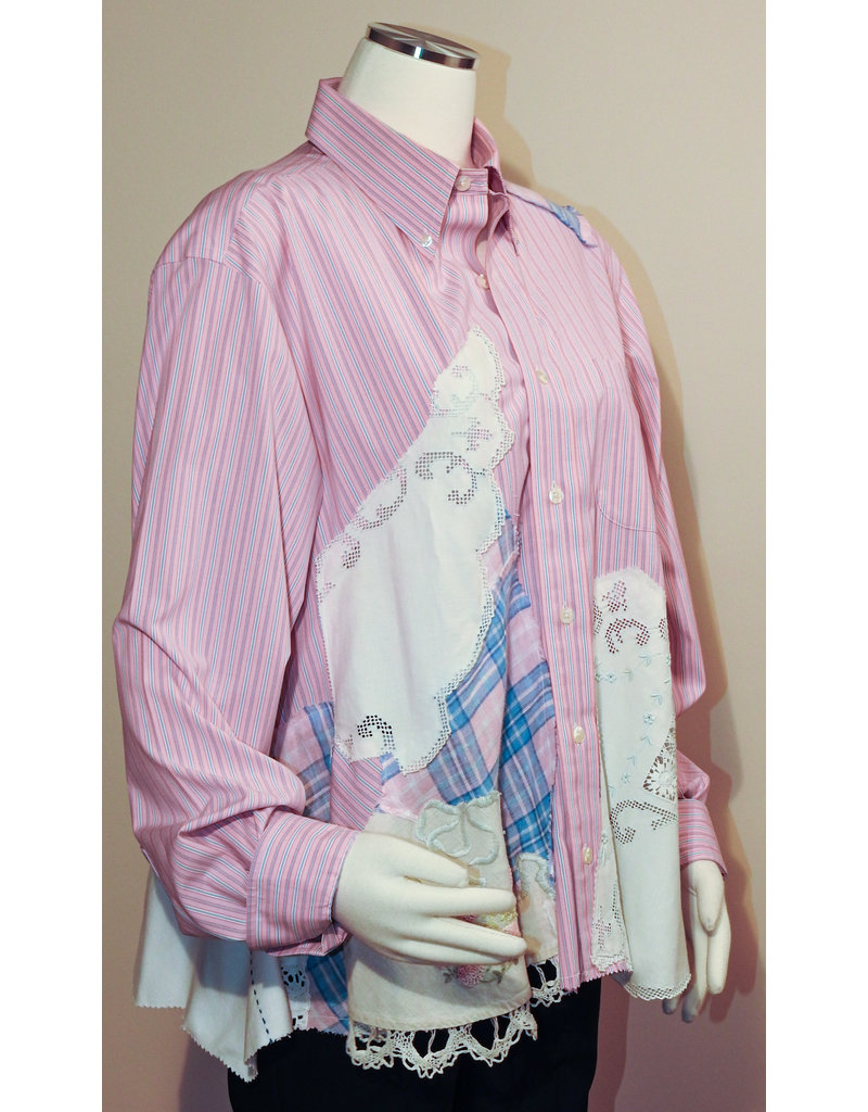 Char Designs, Inc. EJ Shirt Lace 2000 Pink Stripe