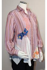 Char Designs, Inc. EJ-2008C Shirt Lace Pink/Orange Stripe