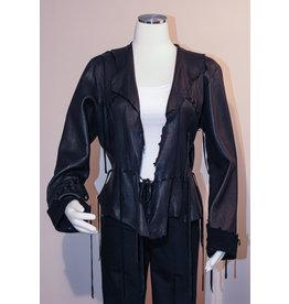 A. Tsagas Black Deerskin Kiki Jacket