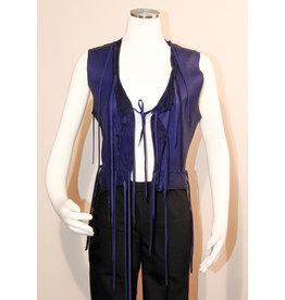 A. Tsagas Purple Deerskin Vest