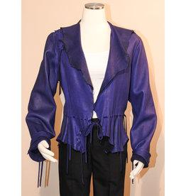 A. Tsagas Purple Deerskin One-of-a-Kind Jacket