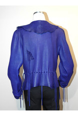 A. Tsagas Purple Deerskin One-of-a-Kind Jacket