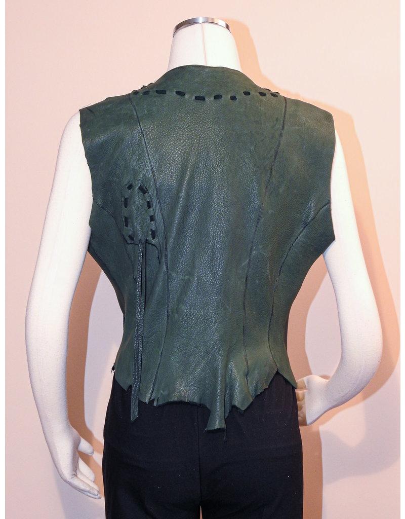 A. Tsagas Green Deerskin Vest