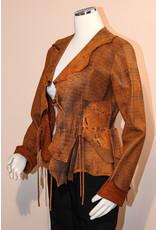 A. Tsagas Mustard Italian Lamb Leather Jacket