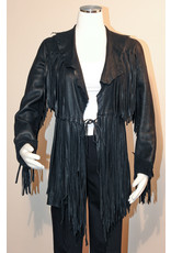 A. Tsagas Black Deerskin Fringed Jacket