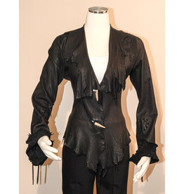 A. Tsagas Black Deerskin Leather Jacket