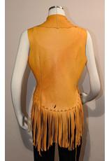 A. Tsagas Gold Fringe Vest