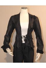 A. Tsagas Black Deerskin Kiki Short Jacket