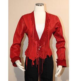 "A. Tsagas ""Kiki"" Red Deerskin Leather Jacket"