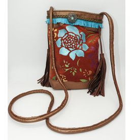 Char Designs, Inc. P-Rust and Turquoise Flower