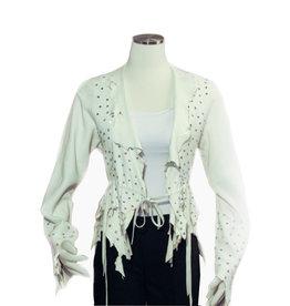 A. Tsagas White Deerskin Leather w/Crystal Bling Jkt