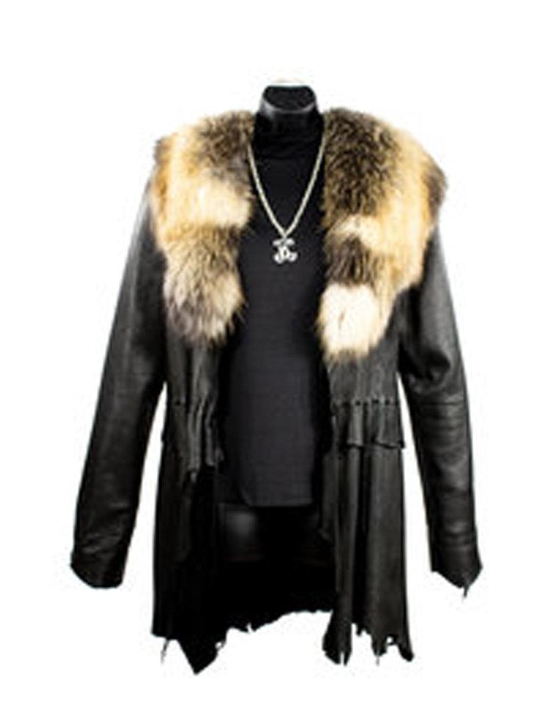 A. Tsagas deer skin w/fox collar (deer skin w/fox collar)