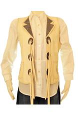 Alan Michael USA Corp Concho Vest White Lizard White Gator L