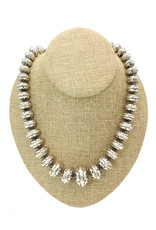 """Ray Van Cleve 22.75"""" Overlay, 31mm center Bead Necklace"""