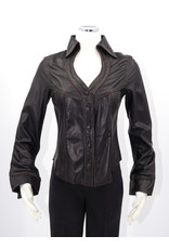 Alan Michael USA Corp Heartneck black lambskin shirt - XL