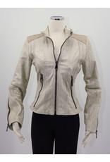 Alan Michael USA Corp Moto White Italian Leather w/Snake Inlay M