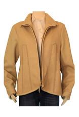 Gossamer Wings Cream Italian Deerskin w/ Beaded Eagle Jacket