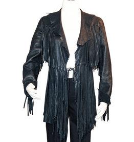 A. Tsagas Black Deerskin Fringed Jacket