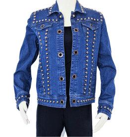 Tia Designs Bold Stud Straight Cut Jacket