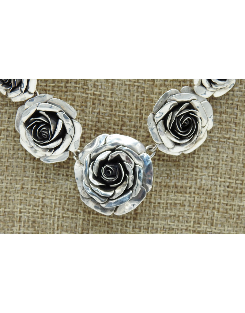 "Ray Van Cleve 18.5"" Sterling Silver Handmade Roses"