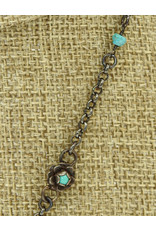 Gildas Gewels Small Turquoise Heart w/ Diam. Clasp, Vntg. Chain