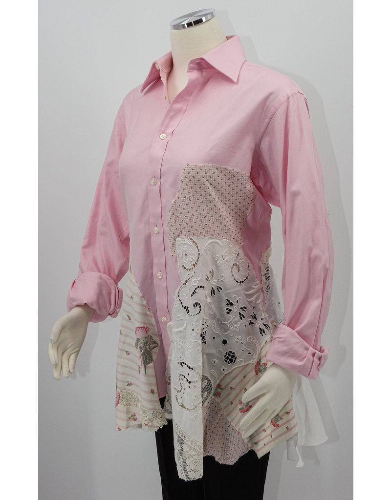Char Designs, Inc. EJ Vntg Pink, antq. lace & Chessie Vntg fabric