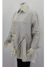 Char Designs, Inc. EJ-2064C Blk/Wht stripe, NIP-Tuck Vntg fabric