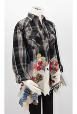 Char Designs, Inc. EJ Black Plaid and Antique Patchwork