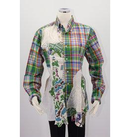 Char Designs, Inc. EJ Green Plaid, 1950's fabric, HE Lace