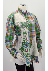 Char Designs, Inc. EJ Green Plaid, 1950's fabric, HE Lace