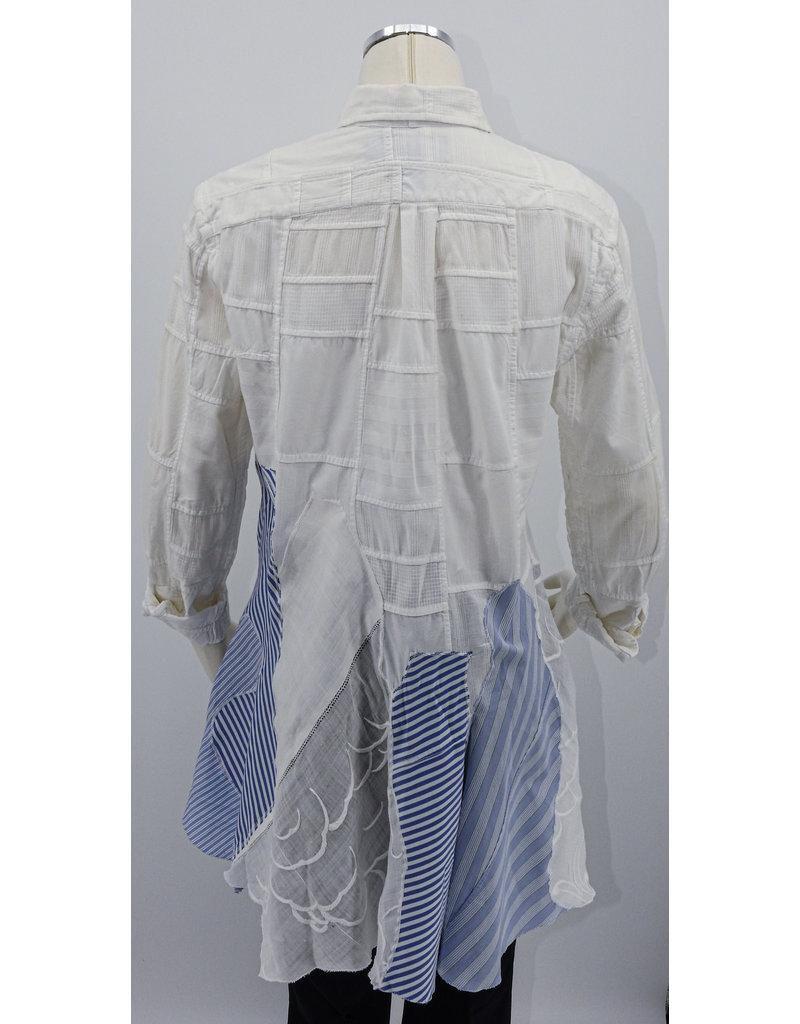 Char Designs, Inc. EJ White Patch RL shirt w/ Embroidered Dragon