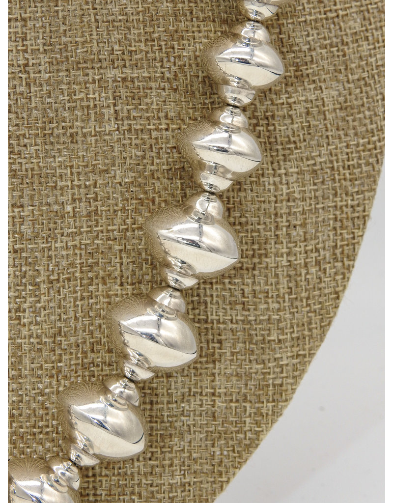 """Ray Van Cleve 20.5"""" Sterling Silver Saucer Beads"""