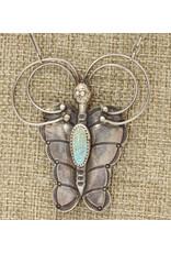 "Gildas Gewels 16"" Vintage Southwest Butterfly, Diam Clasp"