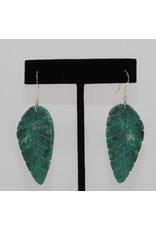 Jolene Bird Turquoise Leaf Earrings