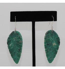 Jolene Bird Turquoise Leaf Earrings