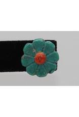 Jolene Bird JB-E Small Turquoise Flower Earrings