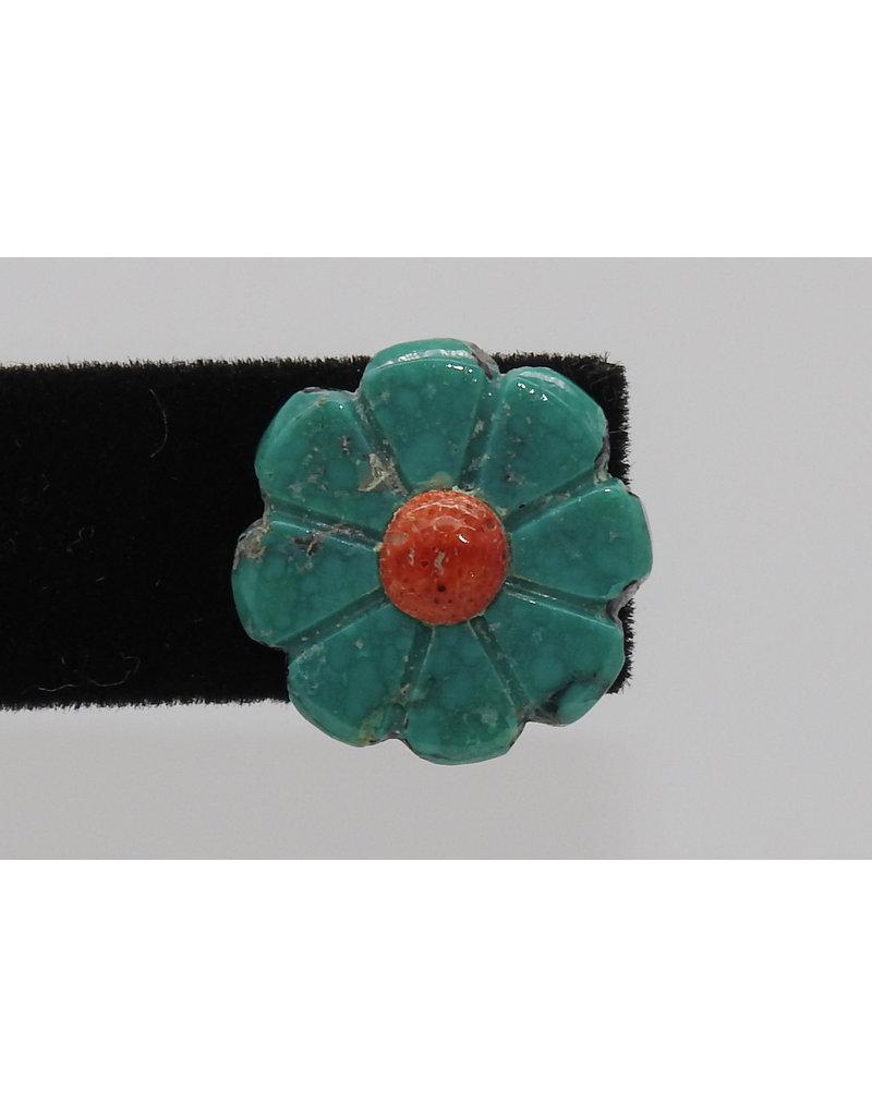 Jolene Bird Small Turquoise Flower Earrings