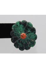Jolene Bird Lg Turquoise Flower Earrings